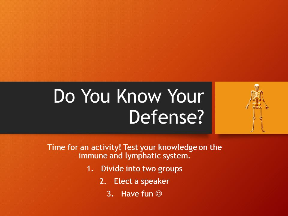 Do You Know Your Defense