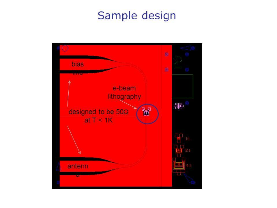 Sample design bias line e-beam lithography designed to be 50W