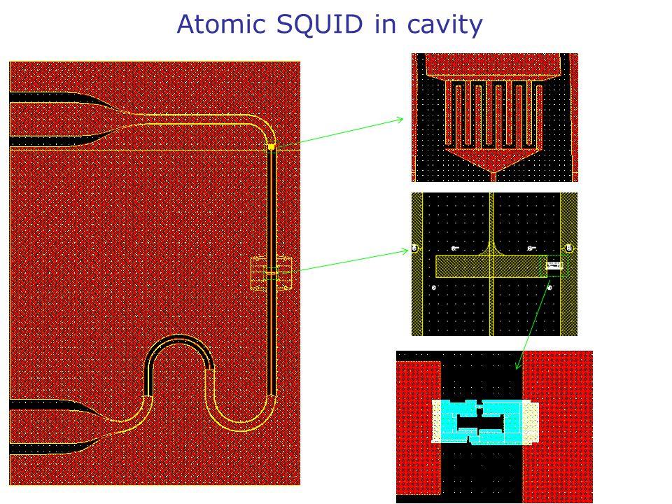 Atomic SQUID in cavity