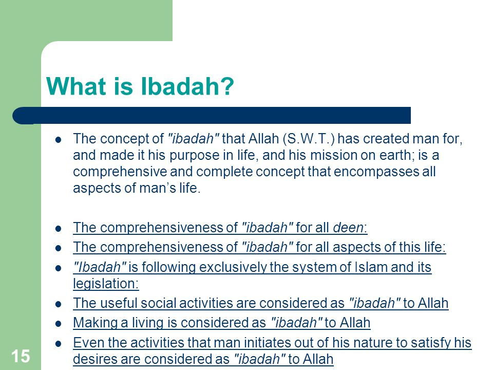 What is Ibadah