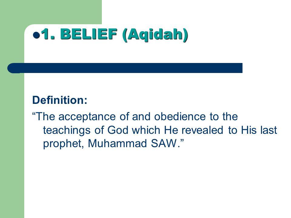 1. BELIEF (Aqidah) Definition: