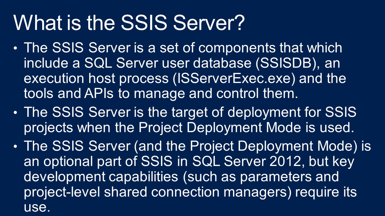 What is the SSIS Server
