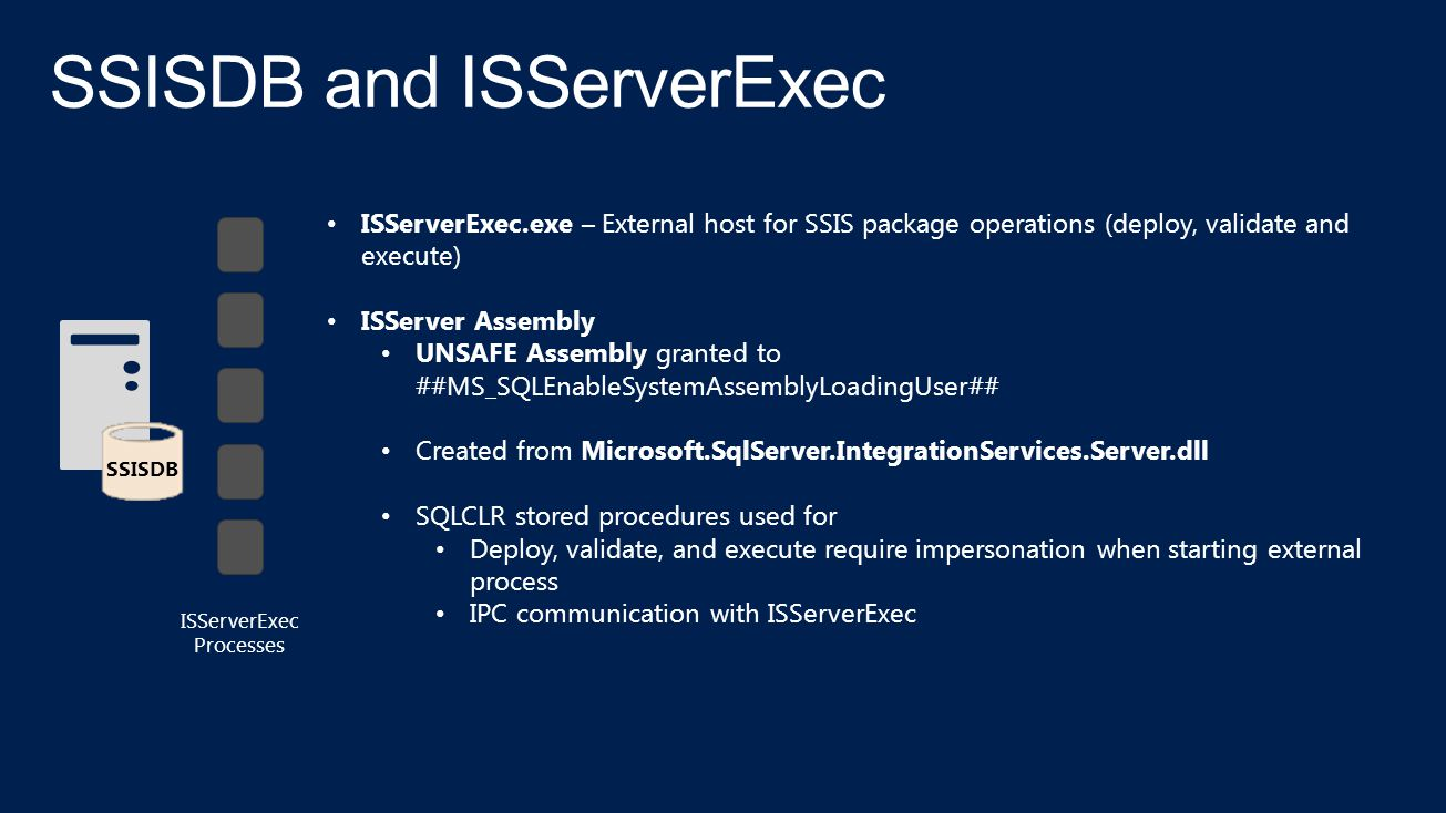 SSISDB and ISServerExec