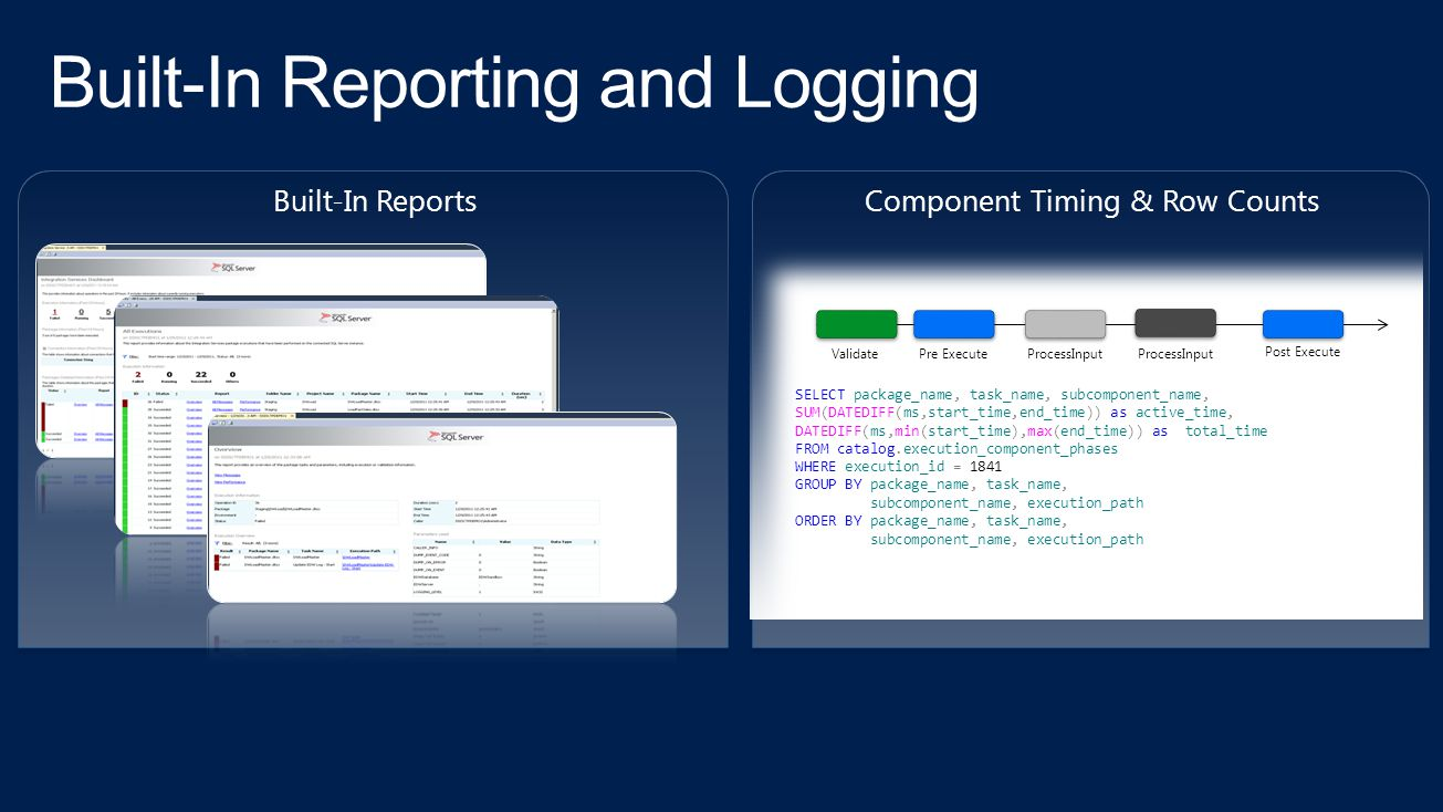 Built-In Reporting and Logging