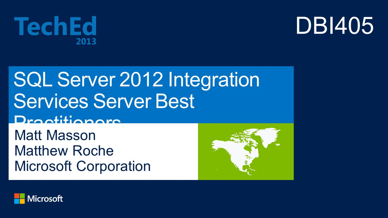 SQL Server 2012 Integration Services Server Best Practitioners