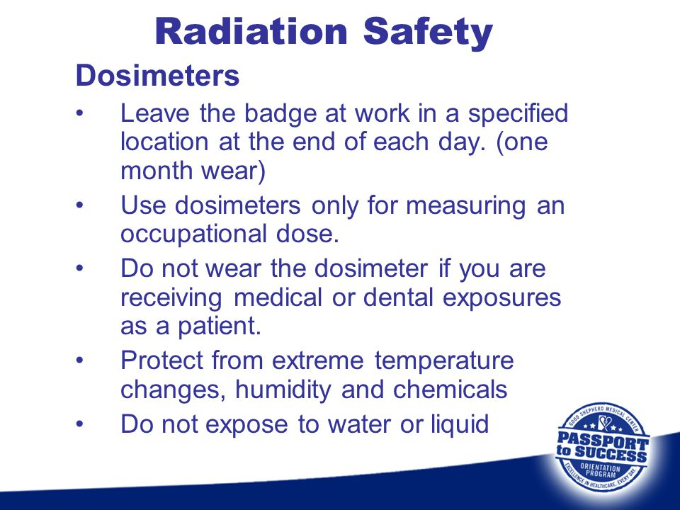 Radiation Safety Dosimeters