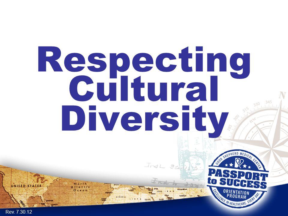 Respecting Cultural Diversity