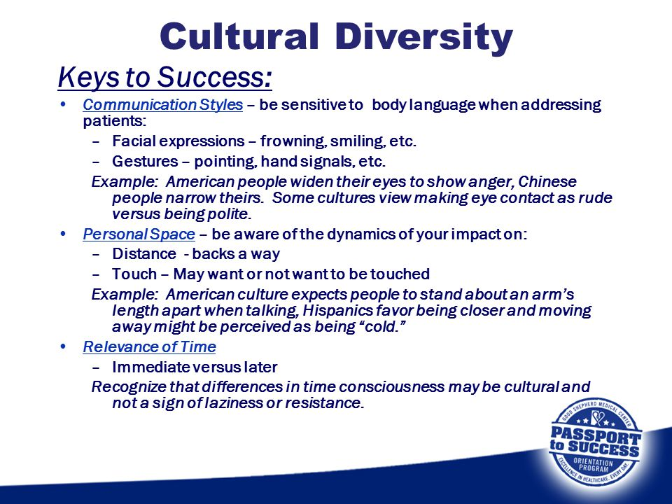 Cultural Diversity Keys to Success: