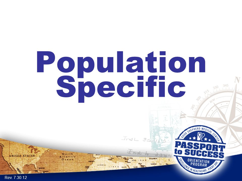 Population Specific Rev. 7.30.12