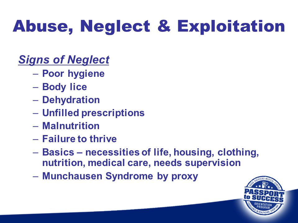 Abuse, Neglect & Exploitation