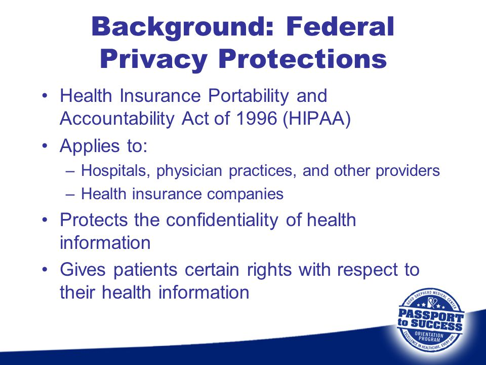 Background: Federal Privacy Protections