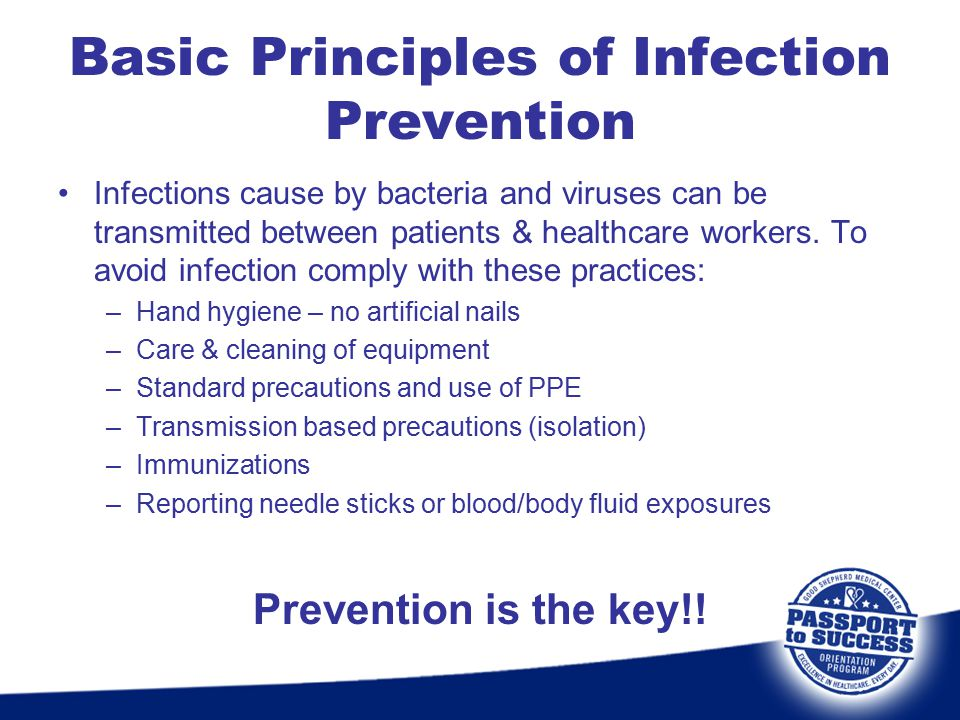 Basic Principles of Infection Prevention