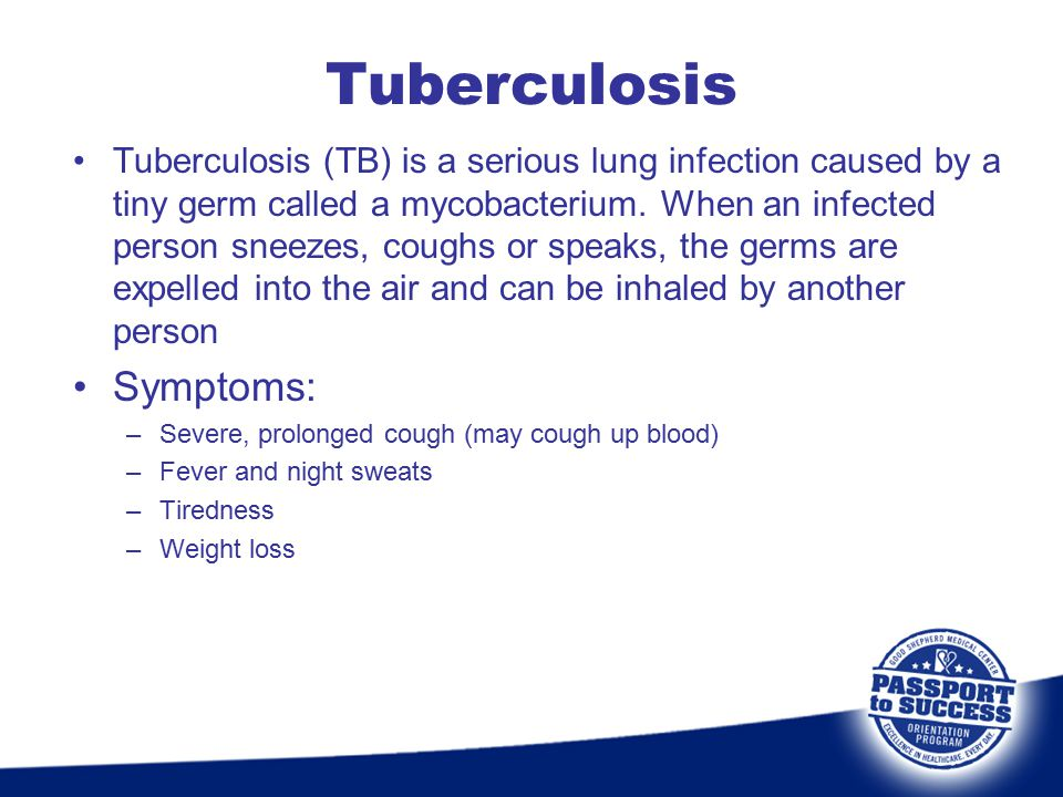Tuberculosis Symptoms: