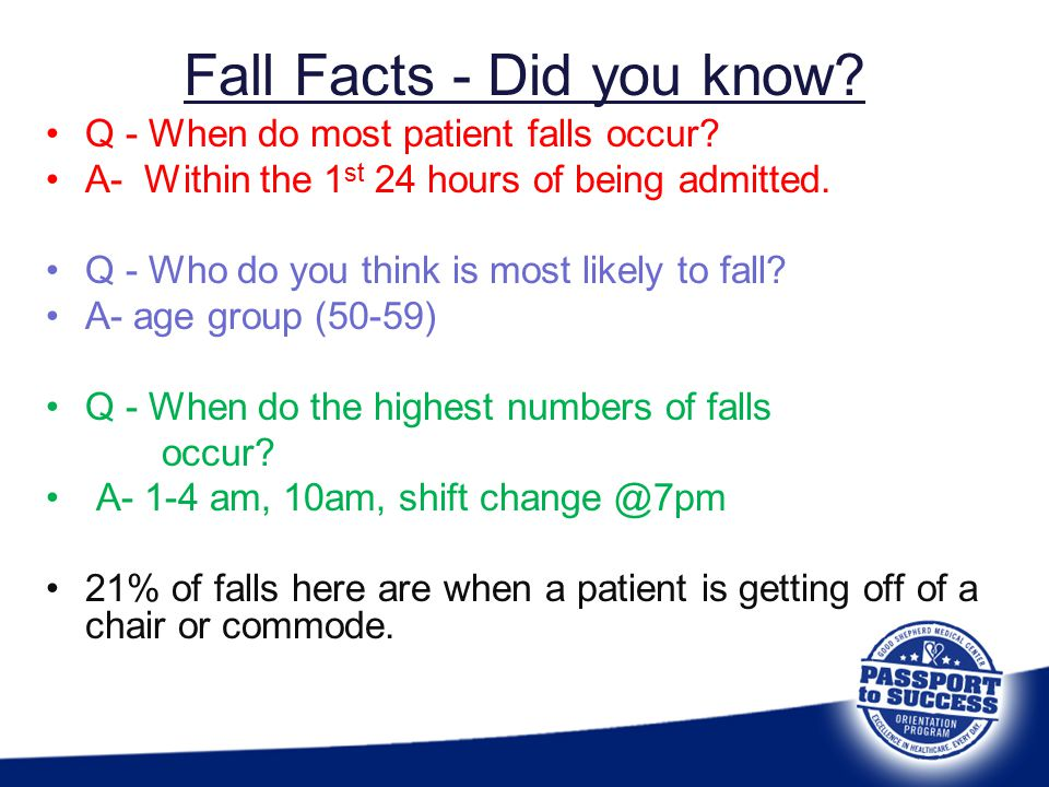 Fall Facts - Did you know