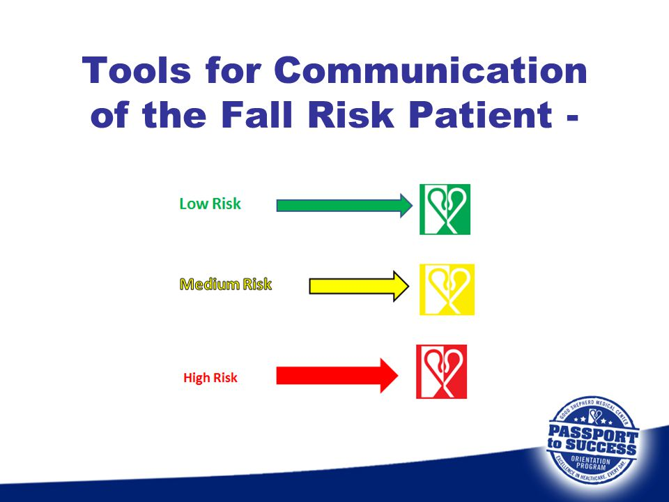 Tools for Communication of the Fall Risk Patient -