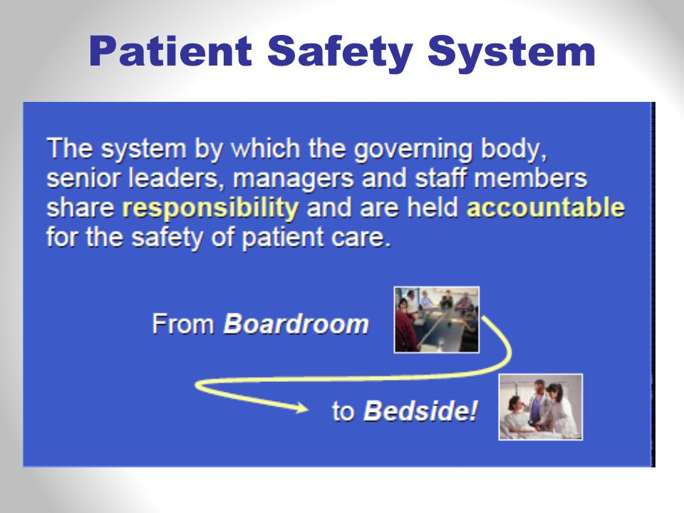 Patient Safety System
