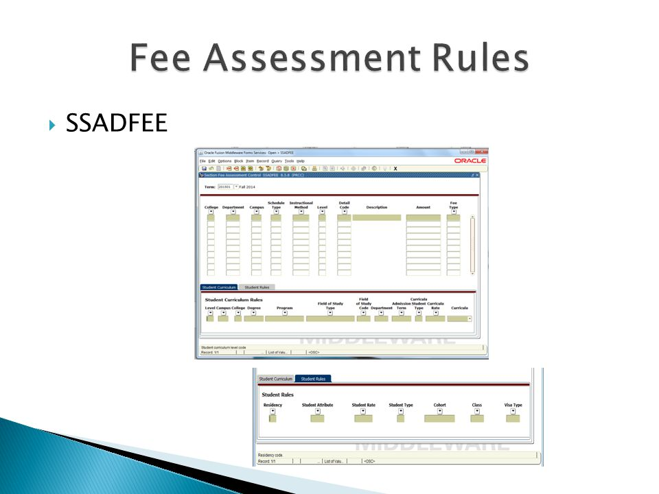 Fee Assessment Rules SSADFEE
