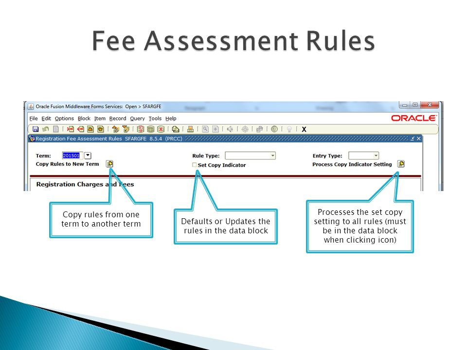 Fee Assessment Rules Copy rules from one term to another term.
