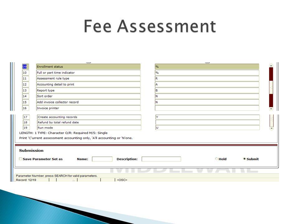 Fee Assessment