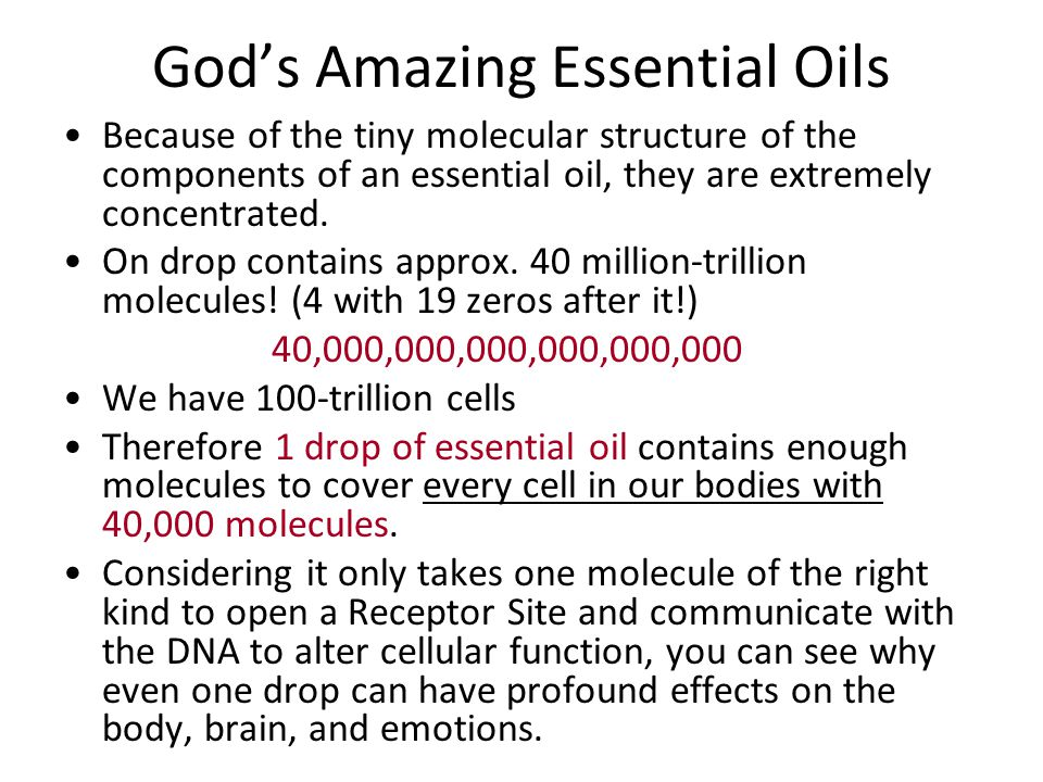 God's Amazing Essential Oils