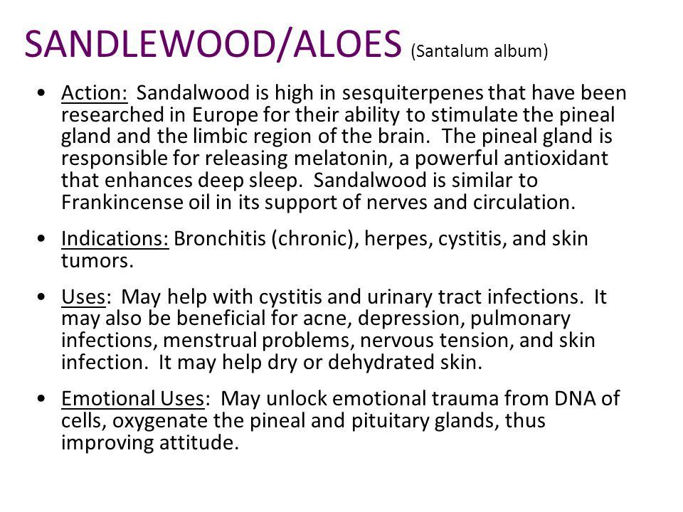 SANDLEWOOD/ALOES (Santalum album)