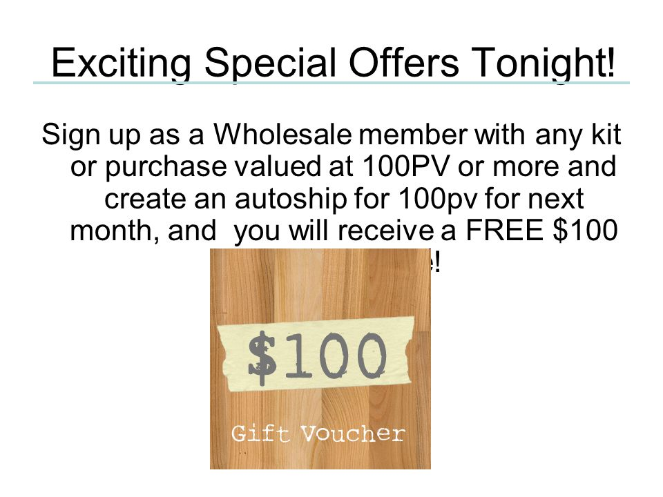 Exciting Special Offers Tonight!