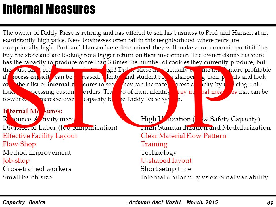 STOP Internal Measures Internal Measures: