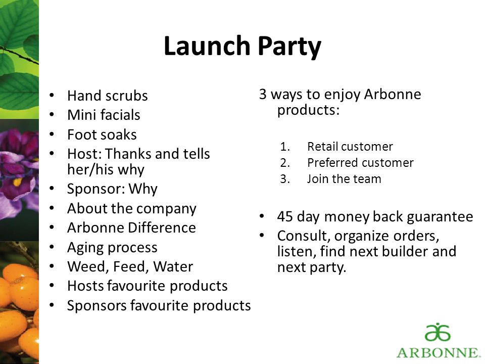 Launch Party Hand scrubs 3 ways to enjoy Arbonne products: