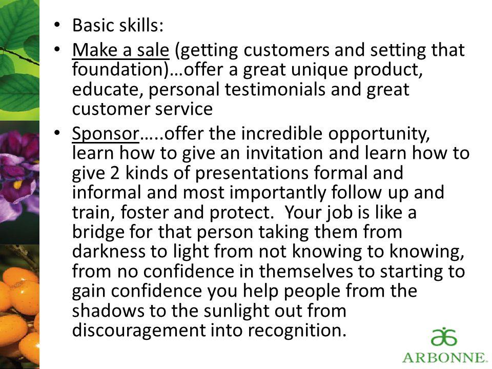 Basic skills: