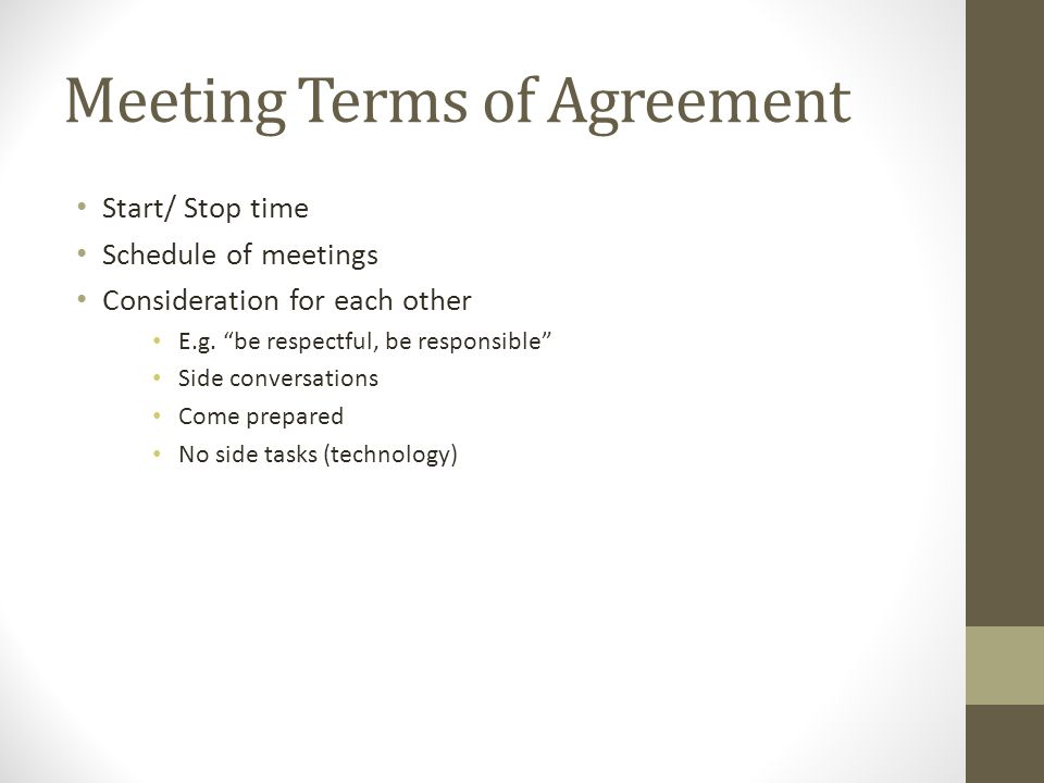 Meeting Terms of Agreement