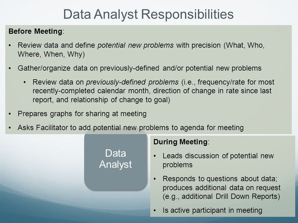 Data Analyst Responsibilities
