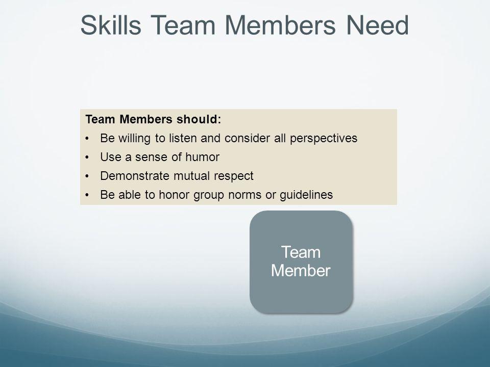 Skills Team Members Need