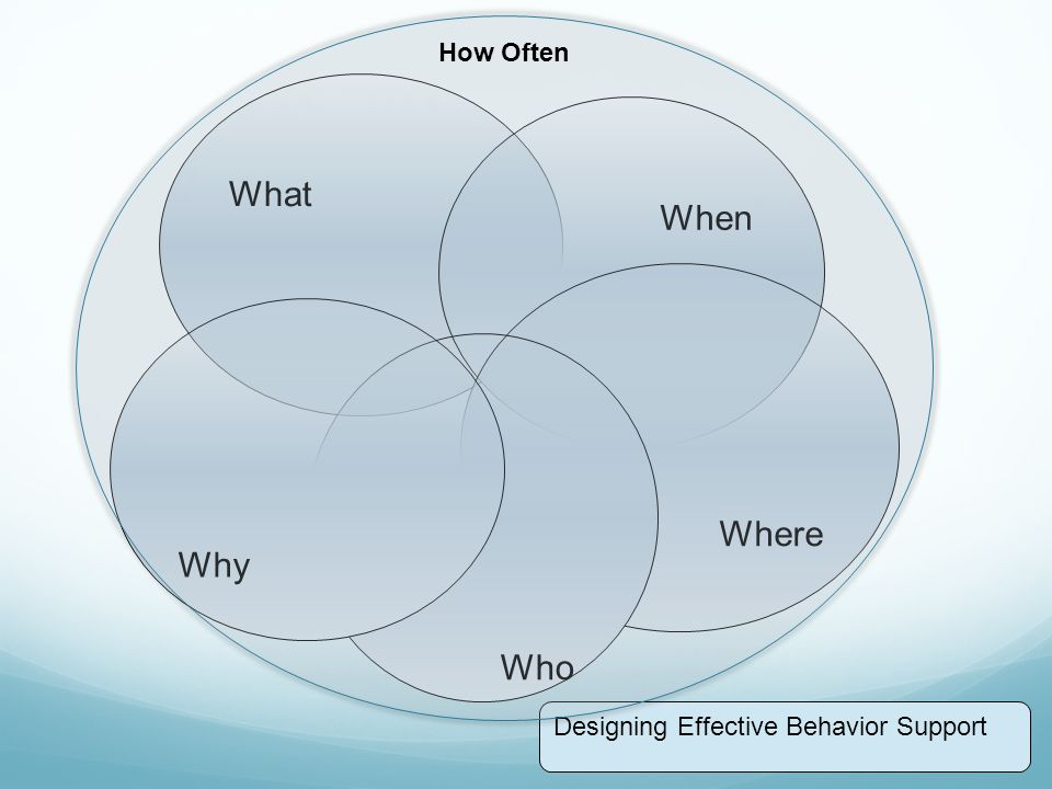 How Often What When Where Why Who Designing Effective Behavior Support