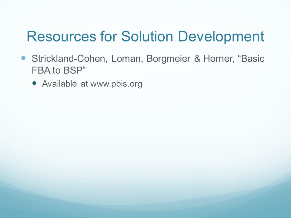 Resources for Solution Development