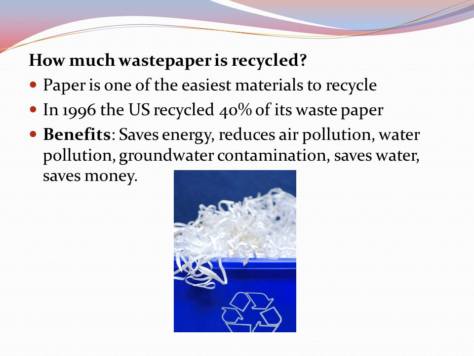 How much wastepaper is recycled