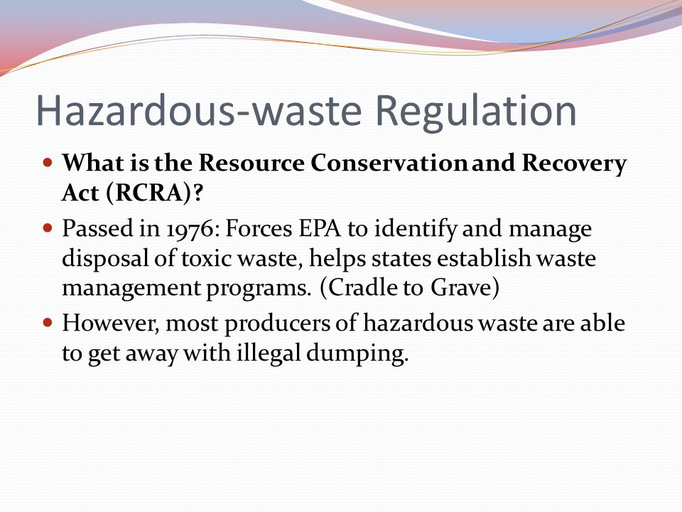 Hazardous-waste Regulation