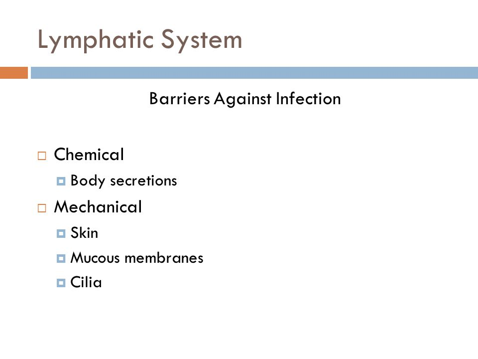 Barriers Against Infection