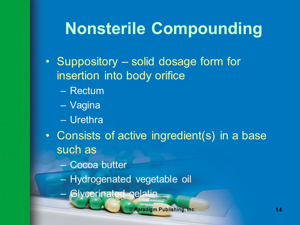 Nonsterile Compounding