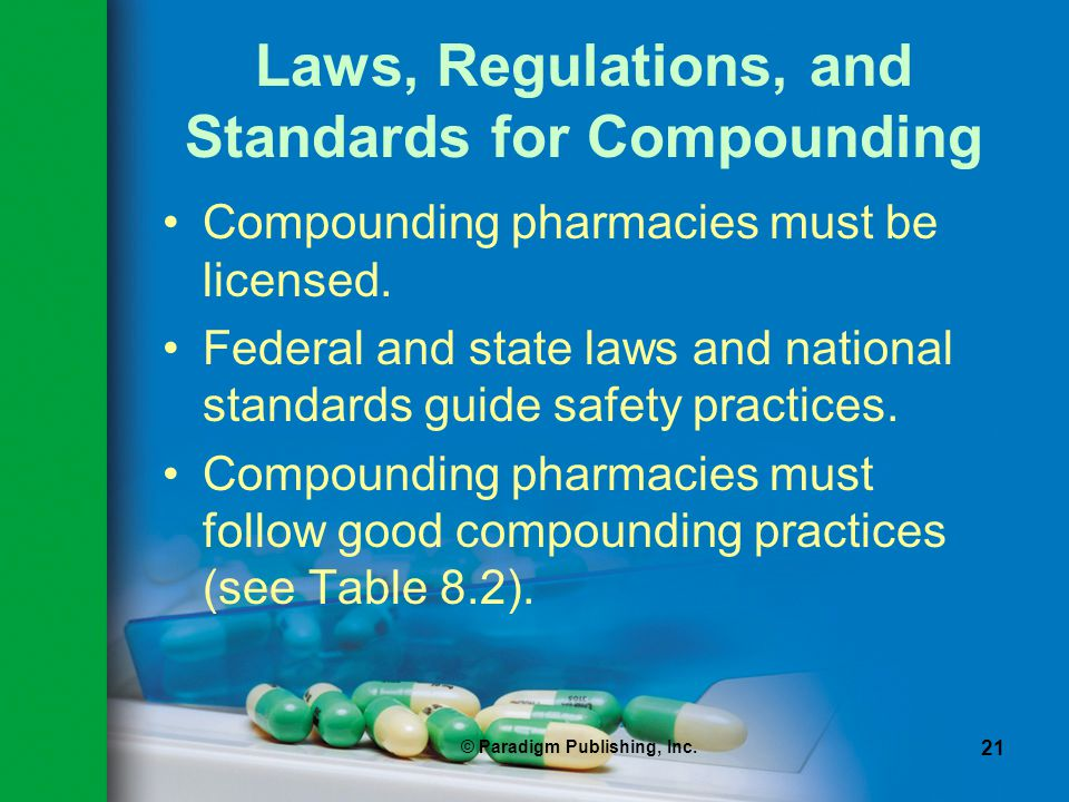 Laws, Regulations, and Standards for Compounding