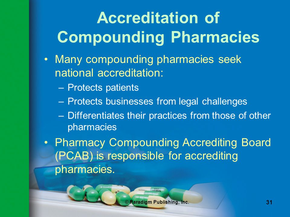 Accreditation of Compounding Pharmacies