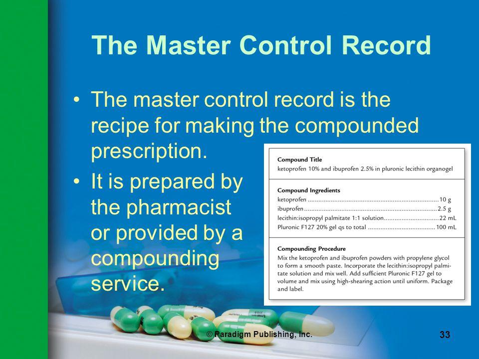 The Master Control Record