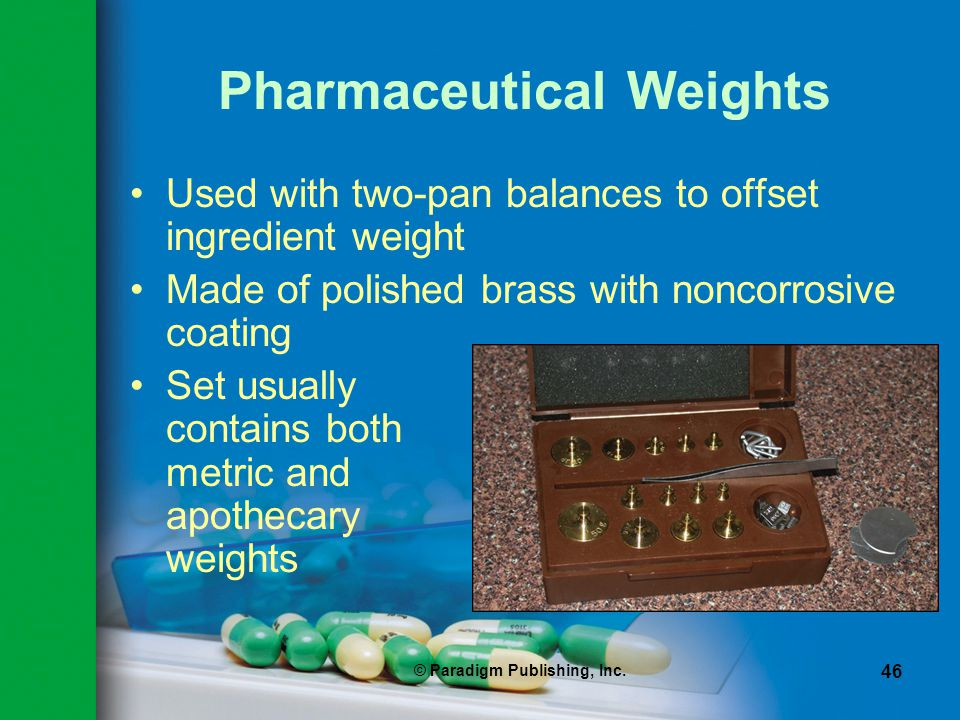 Pharmaceutical Weights