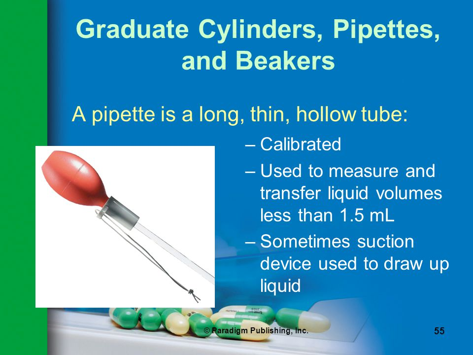 Graduate Cylinders, Pipettes, and Beakers