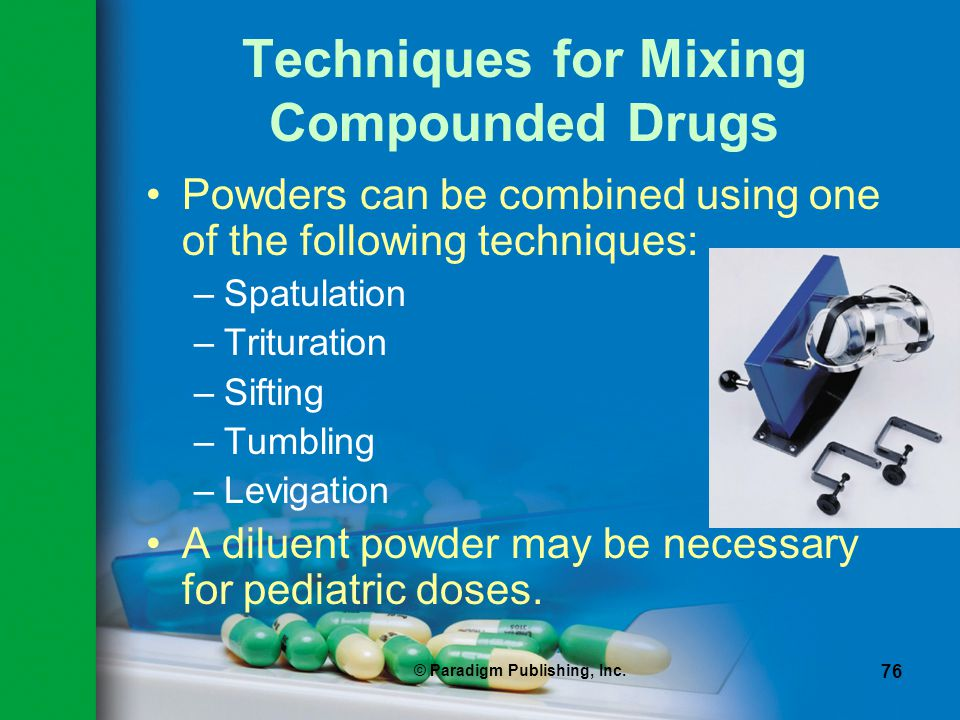 Techniques for Mixing Compounded Drugs