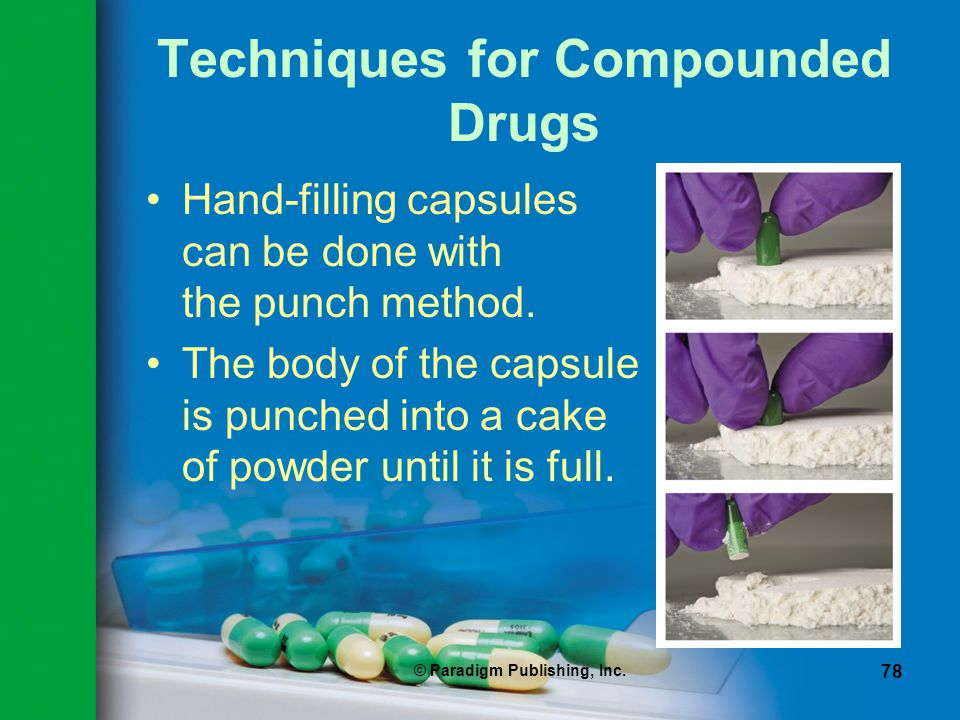 Techniques for Compounded Drugs
