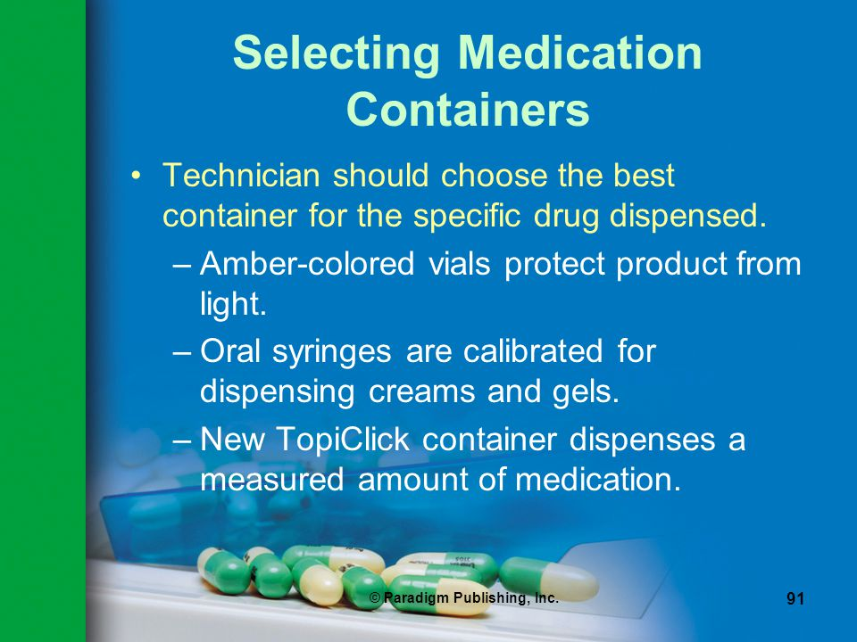 Selecting Medication Containers