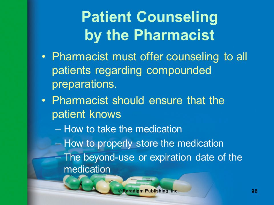 Patient Counseling by the Pharmacist