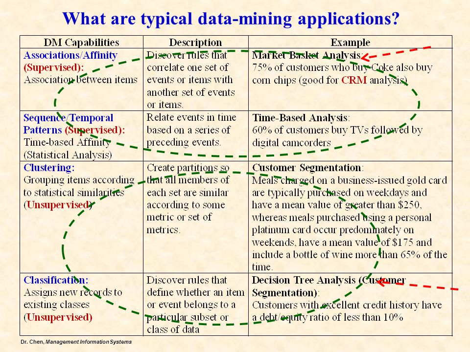 What are typical data-mining applications