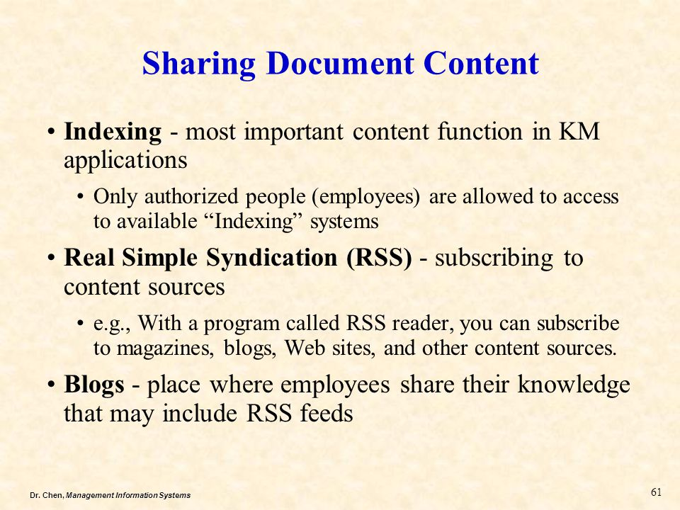 Sharing Document Content
