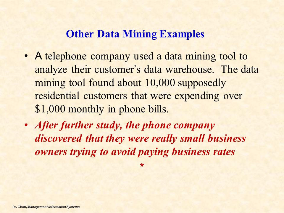 Other Data Mining Examples